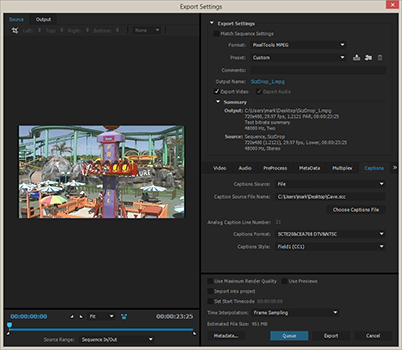 Closed captioning with Adobe Premiere
