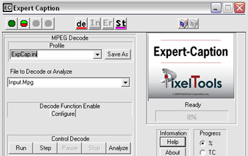 Expert Caption has closed caption with analysis and verification tools